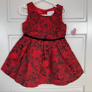 Red and Black dress NWT size 3T